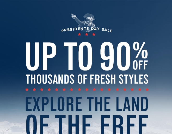 Shop President's Day Sale: Up to 90% Off | The Clymb | The Gear You Need. Up To 70% Below Retail.™